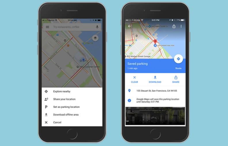 Le migliori app per localizzare auto: Google Maps