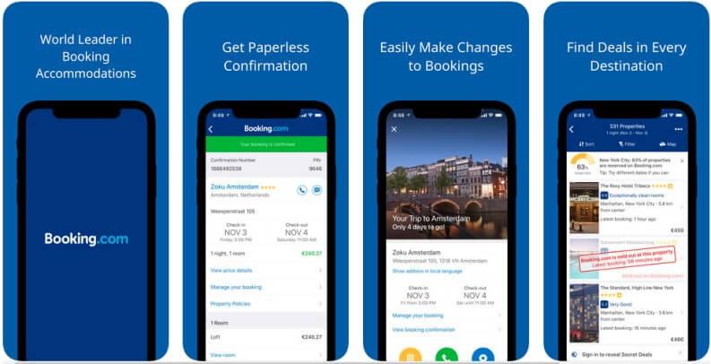 App per viaggi trovare hotel booking
