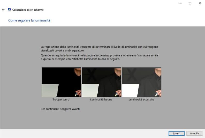 Calibrare monitor Windows 10