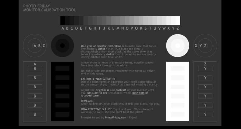 Photofriday calibrazione schermo