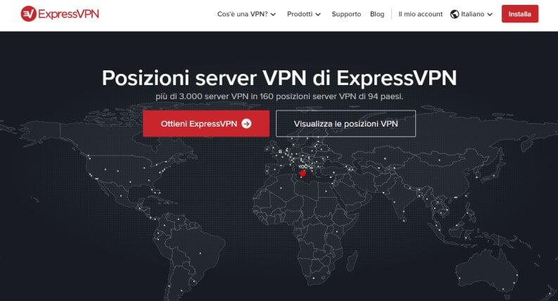 superare blocchi con ExpressVPN