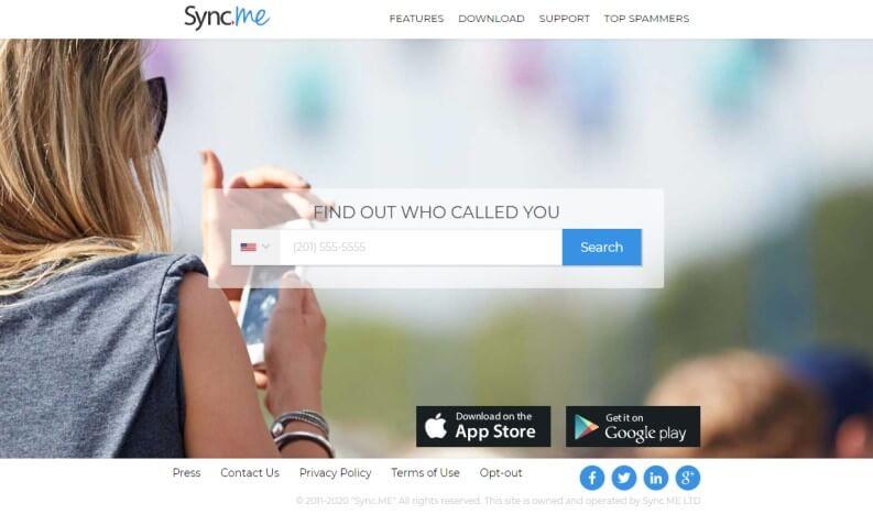 Sync.me elenco telefonico di numeri di telefonino