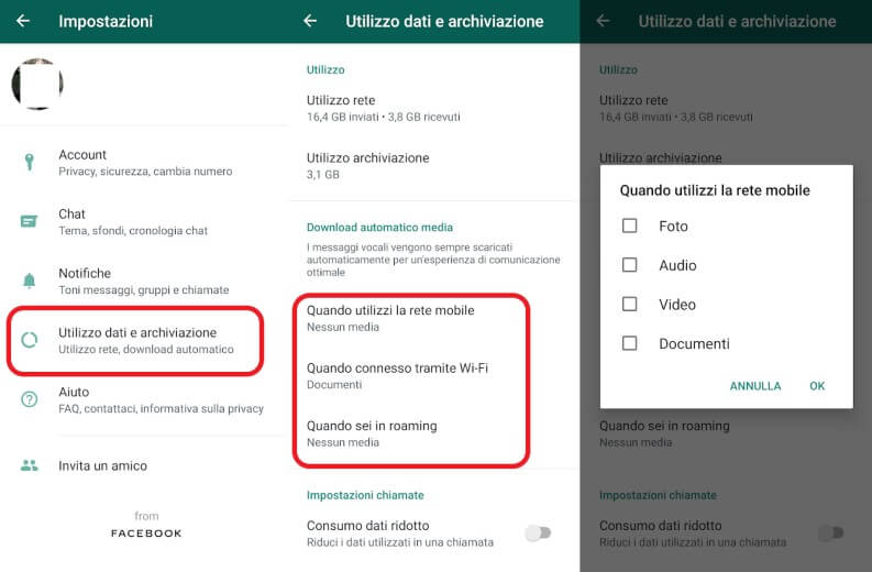 Download dati multimediali