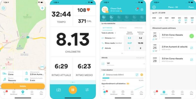 App per tracciare i percorsi: Runkeeper