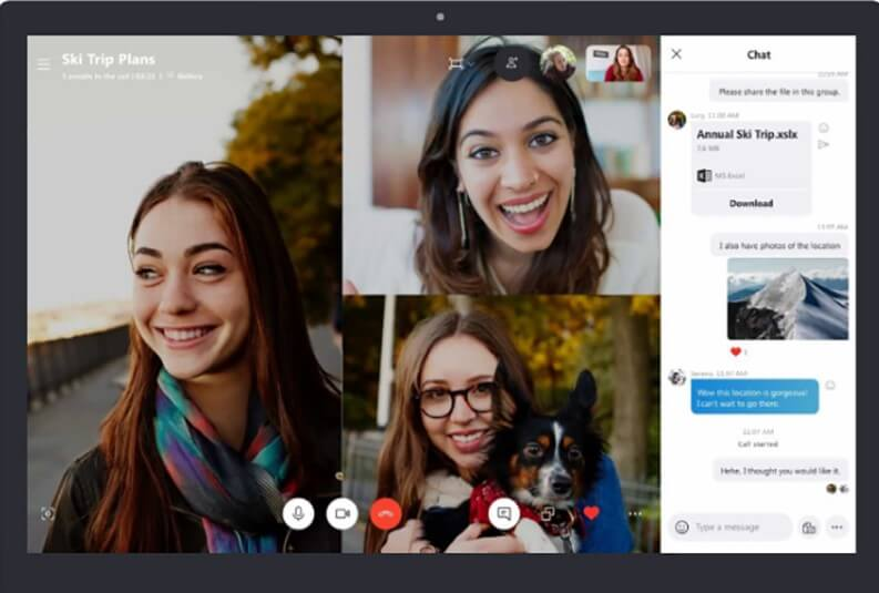 App per videochiamate di gruppo: Skype