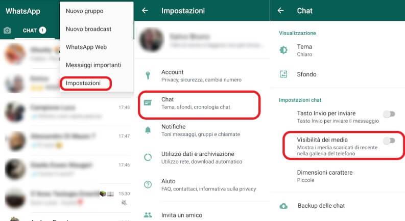 visibilità media WhatsApp