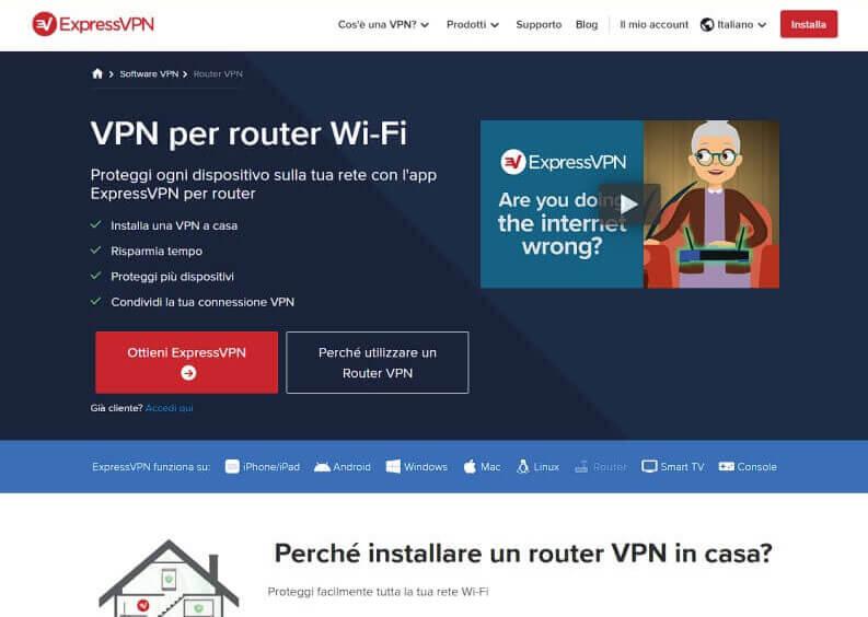 Come configurare ExpressVPN sul router