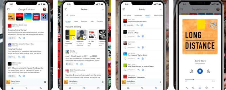 Migliori app per ascoltare podcast: Google Podcast