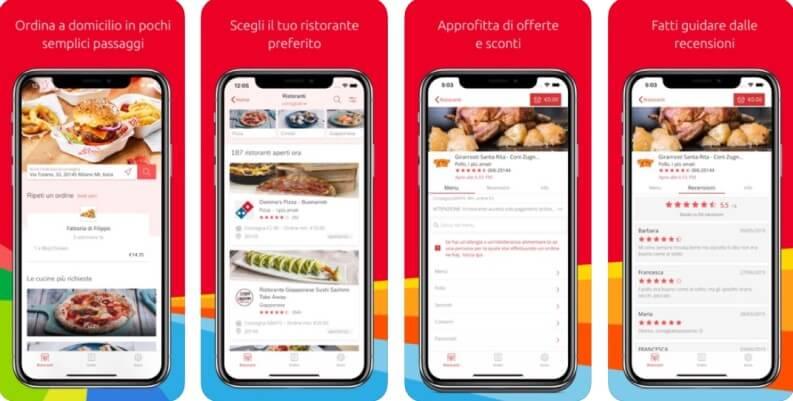 App per ordinare cibo Just Eat