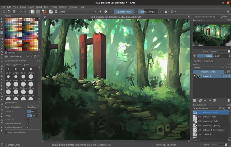 Alternative a Photoshop gratis: Krita