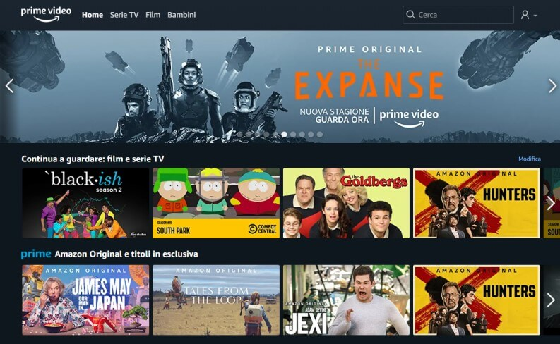 home page amazon prime video