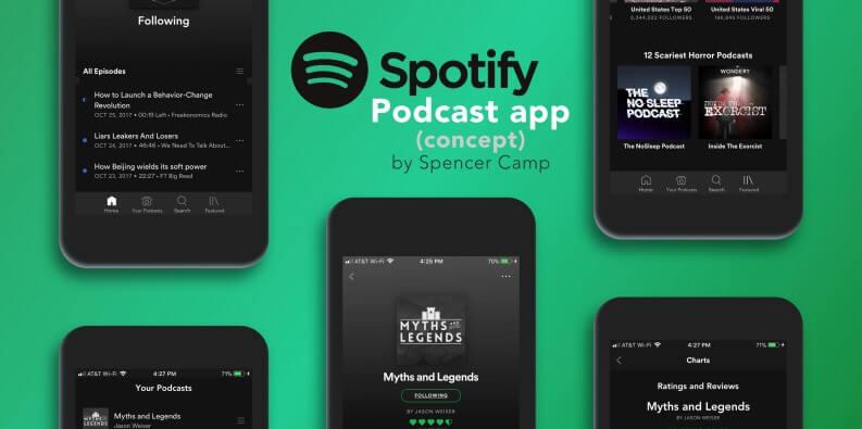 Migliori app per ascoltare podcast: Spotify