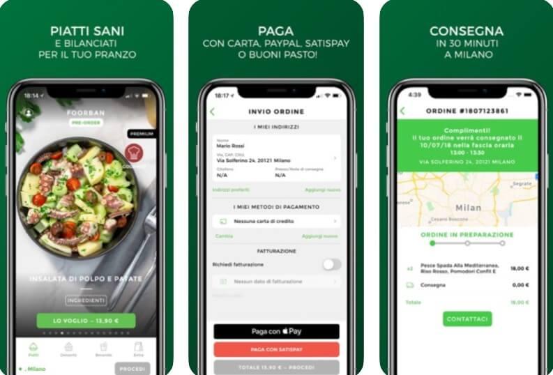 siti per ordinare cibo Foorban