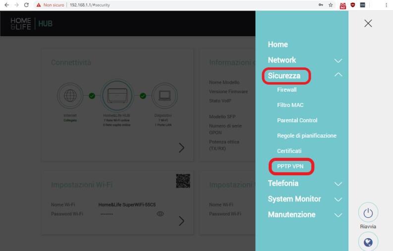 Come configurare una VPN sul router: PPTP