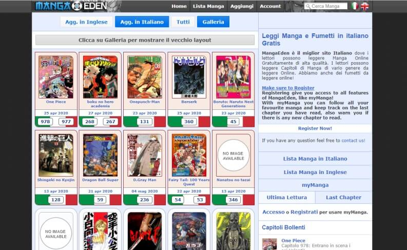 Miglior sito per leggere Manga italiano MangaEden