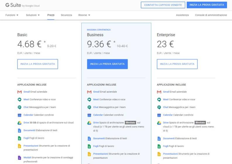 Quanto costa Google Meet