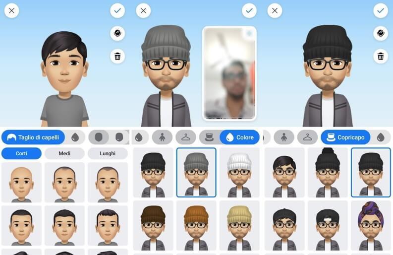 creazione avatar