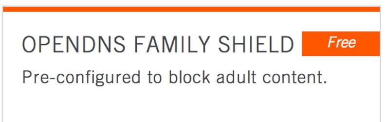 opendns family shield come fare