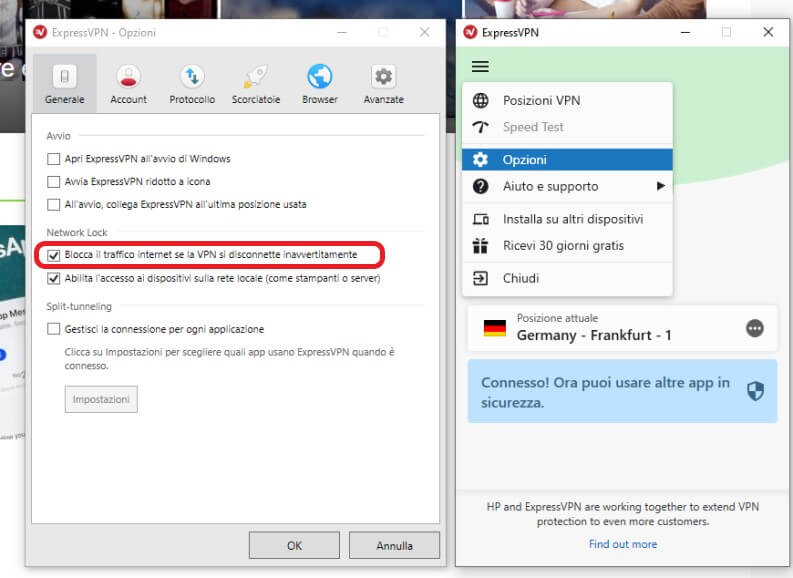 Attivare il VPN Kill Switch su Express VPN