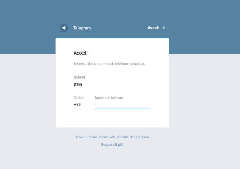 Installare e registrarsi su Telegram