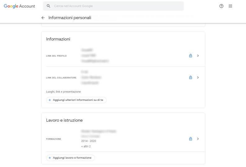 reputazione online: Google Profiles