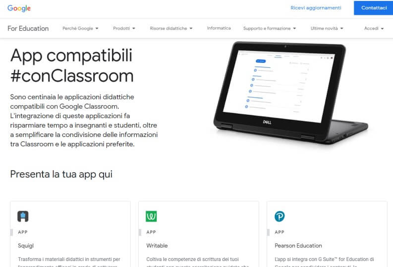 Estendere le funzionalità di Google Classroom
