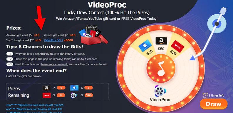 videoproc giveaway