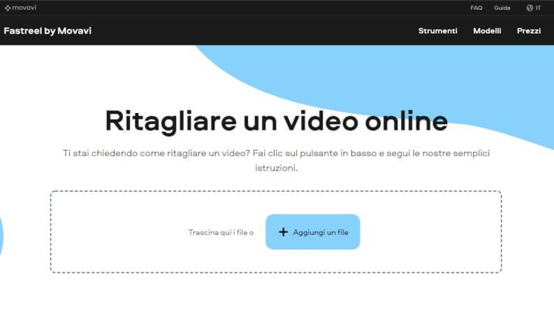 Ritagliare un video con Video con Fastreel