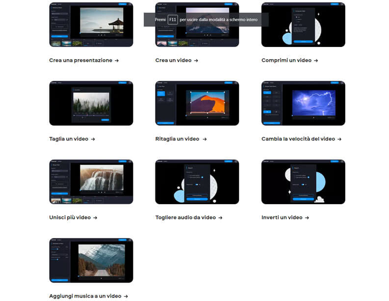 strumenti video editing online fastreel
