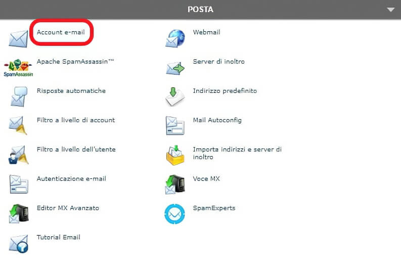 CPannel: creare un indirizzo mail acquistando un dominio personalizzato