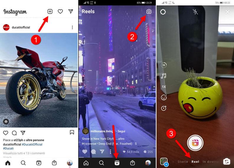 come realizzare creare un reel instagram