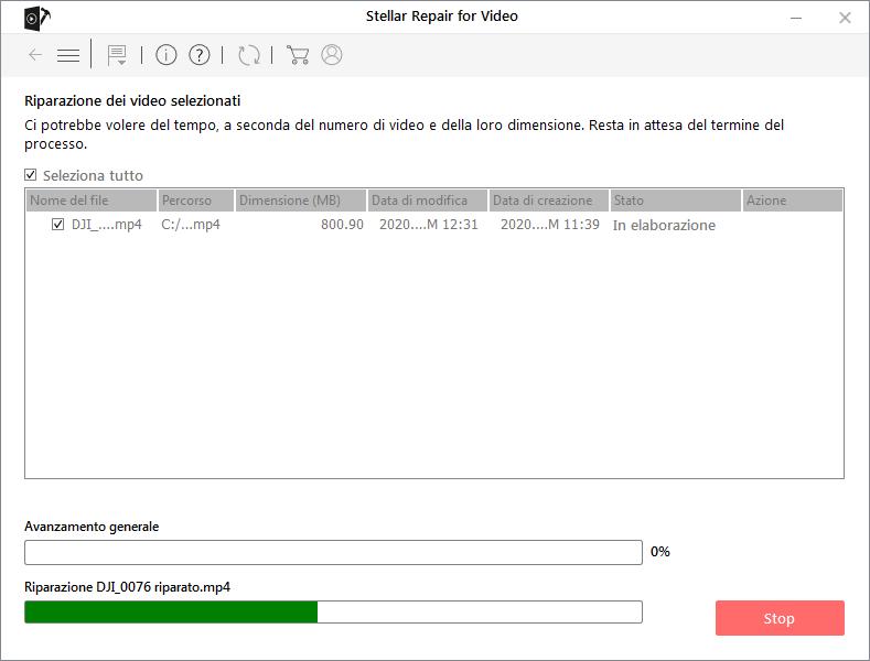 riparare file mp4