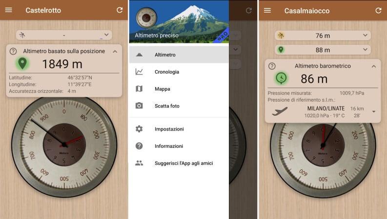 Le migliori app per misurare l'altitudine su Android e iOS: altimetro preciso