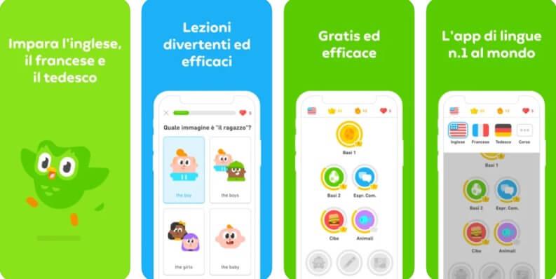 Migliori app per imparare inglese su iOS e Android: Duolingo
