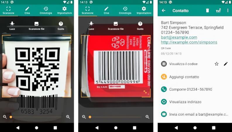 Lettore QR e lettore codici a barre per Android