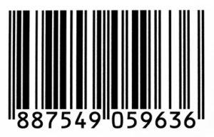 Un tipico codice a barre EAN