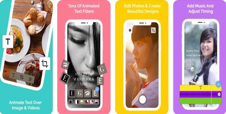 hype text tra le migliori app per aggiungere scritte nei video: Hype text