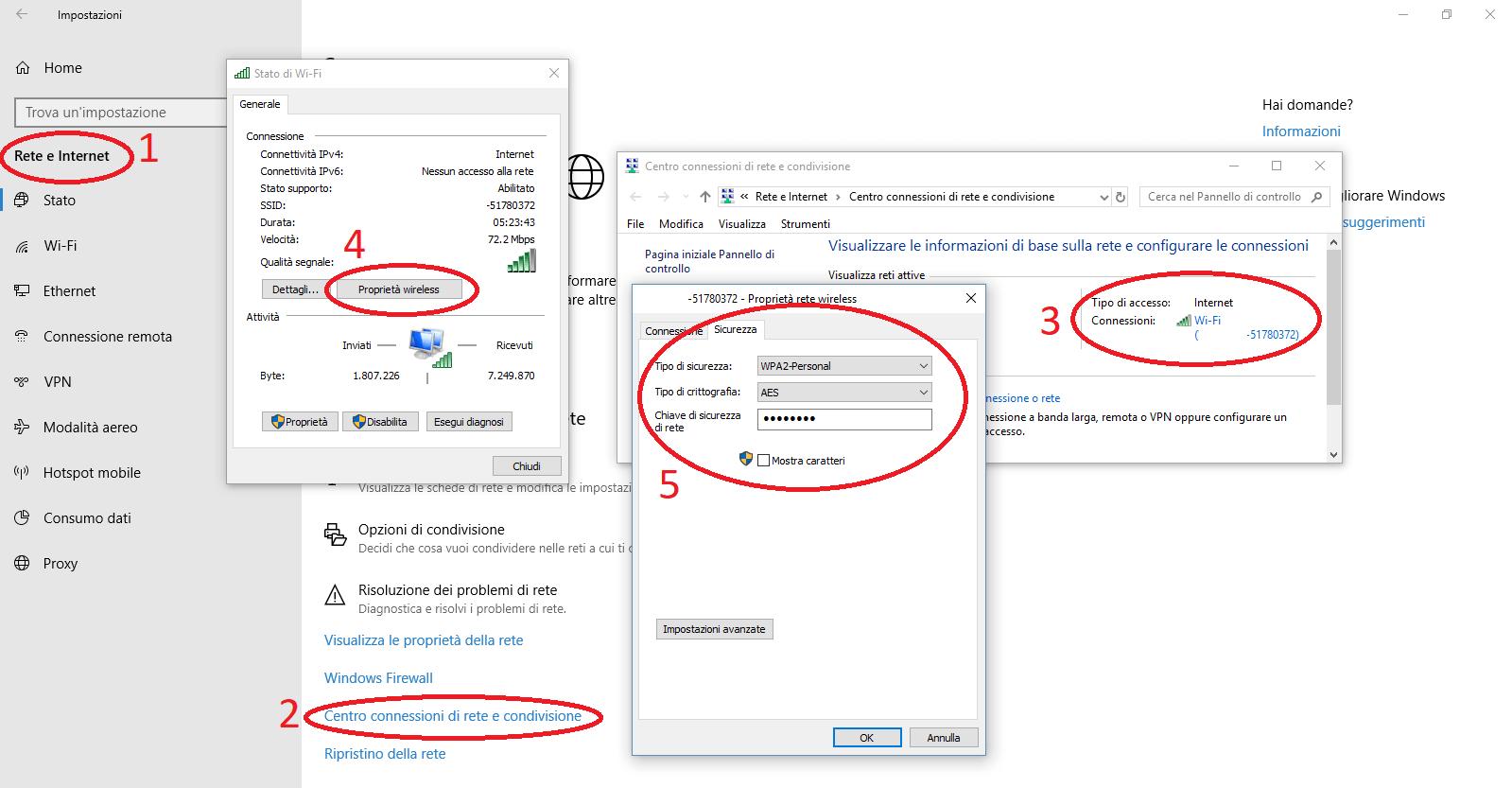 come trovare password wifi windows 10