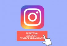disattivare temporaneamente account Instagram