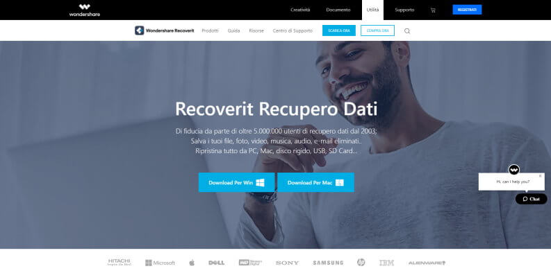Wondershare Recoverit download per windows e mac