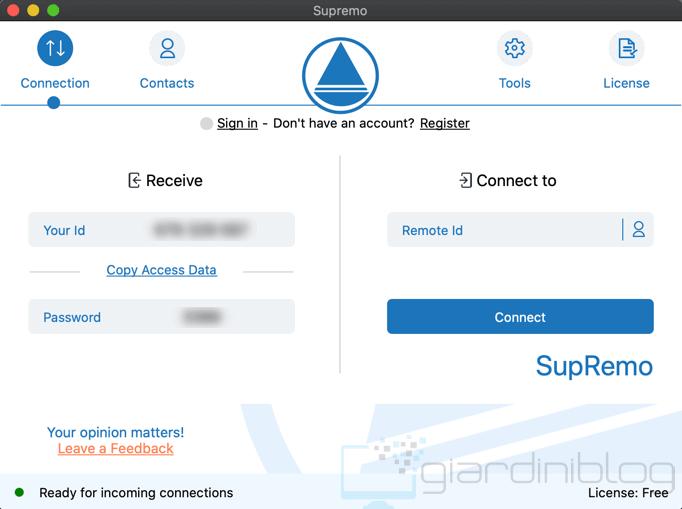 SupRemo Control Desktop Remoto MacOS