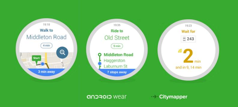 Migliori app per smartwatch Android Wear OS: Citymapper