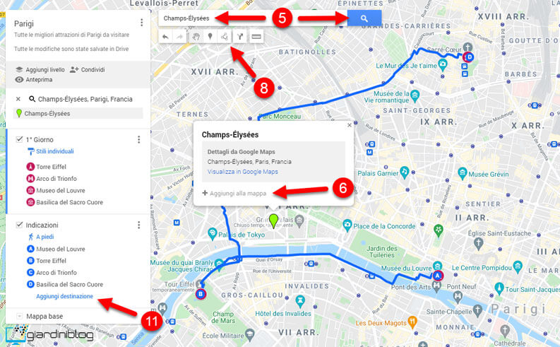 My Maps Mappa Personalizzata