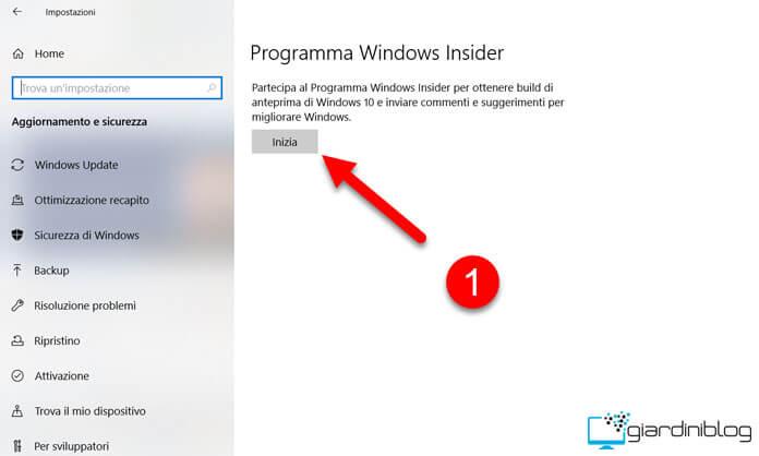 Windows Insider Inizia