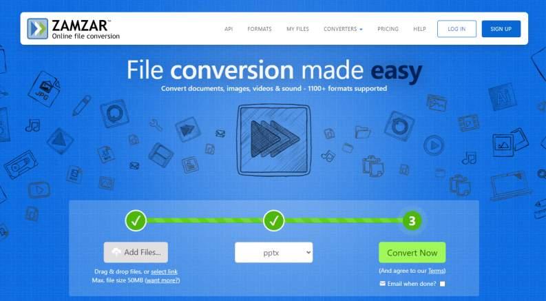 Zamzar Convertire PDF In PPT