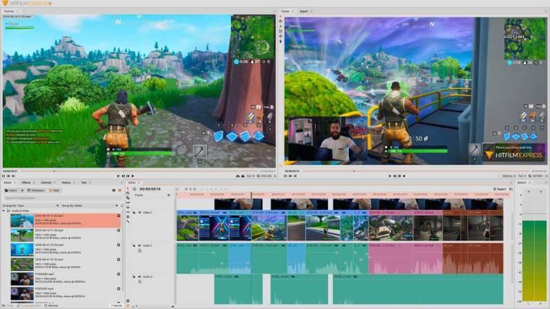 Video Editing Gratis Hitfilm Express