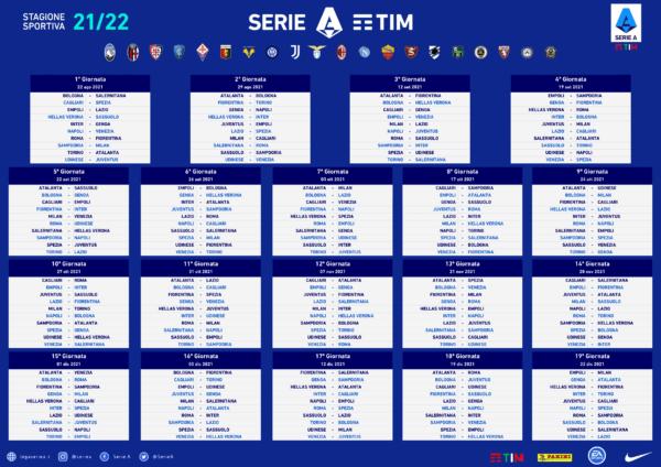 Calendario Serie A Girone Andata