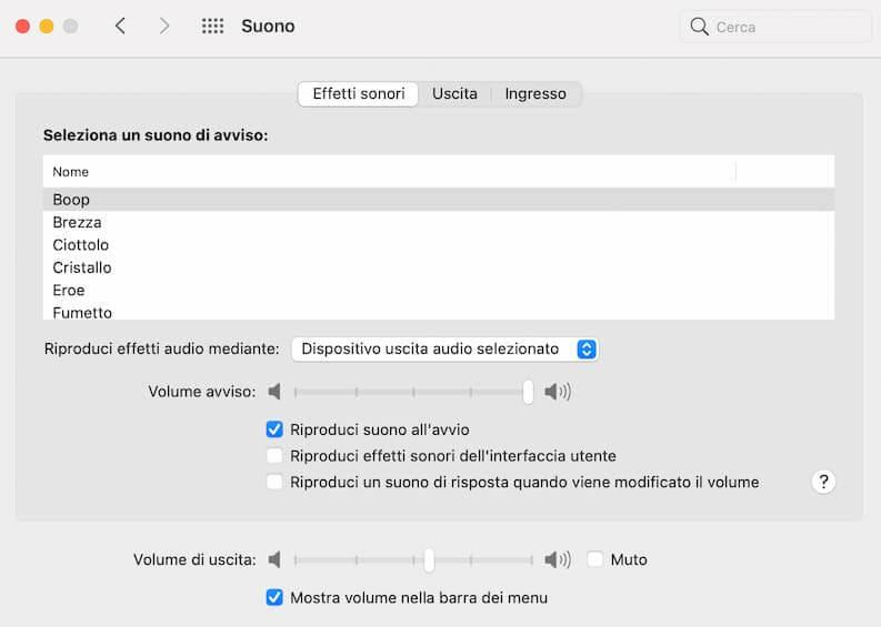 Disattivare Suono Screenshot Mac