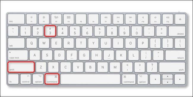 Screenshot su Mac con Shift + Command + 3