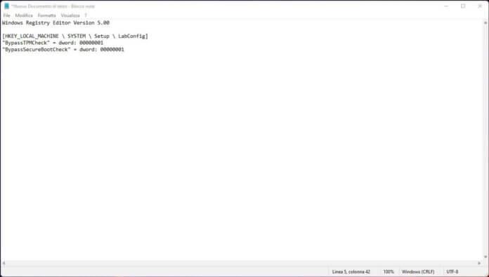 File Di Registro Windows